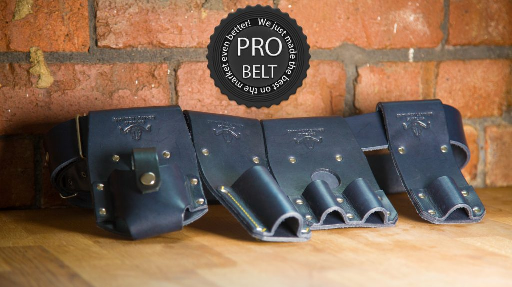 Black Scaffolders belt from snowden leather